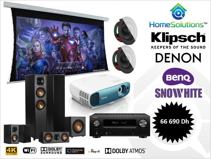Pack Home cinéma Klipsch Dolby Atmos 4K.