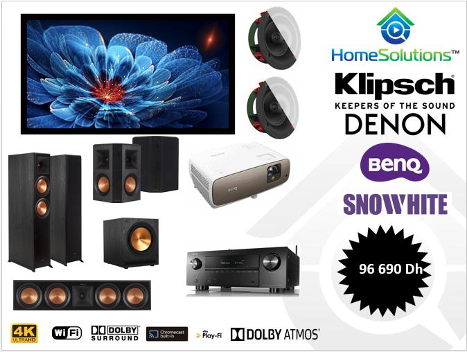 Pack cinéma 5.1.2  4K Dolby Atmos Klipsch Référence Première