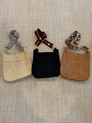 Cross Body Bag (Camel Suede)
