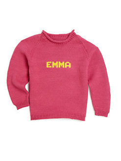 Roll Neck Sweater - Pink/Yellow