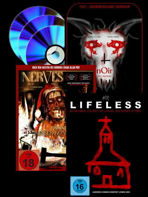 Vorverkauf Triple Feature: NERVES, LIFELESS, NOIR (nur für Erwachsene / Adults only)