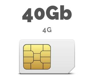 ONLY SIM 40 GB