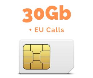 Mobile SIM 30GB