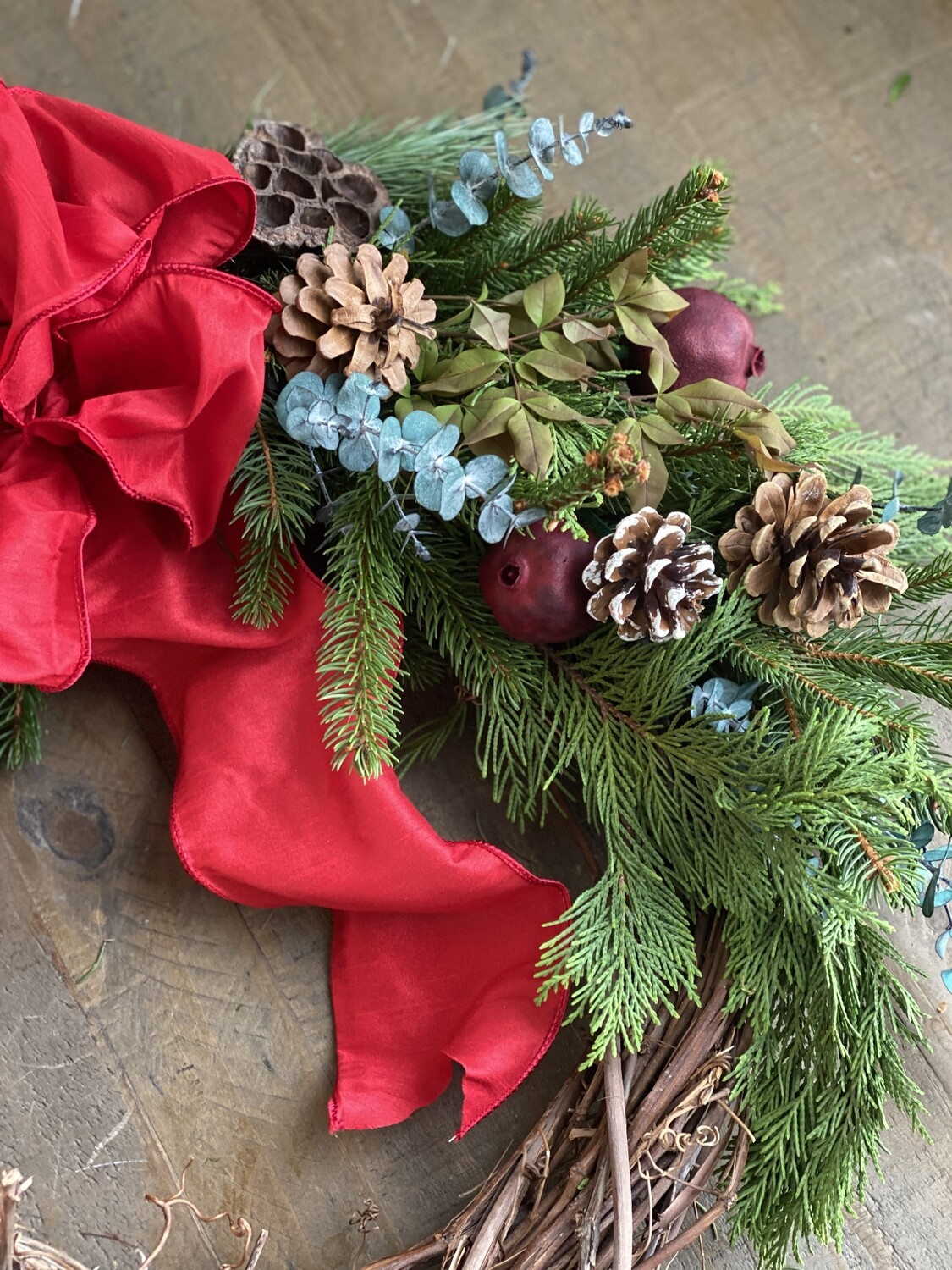 CHRISTMAS WREATH Workshop on 12/2/2020