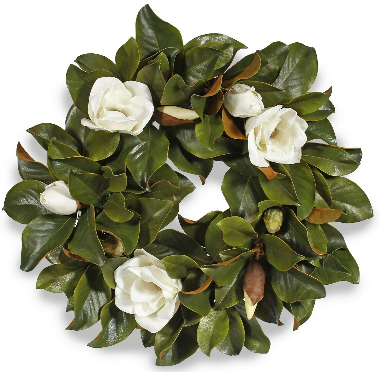 Magnolia Leaf with Blooms - 24""