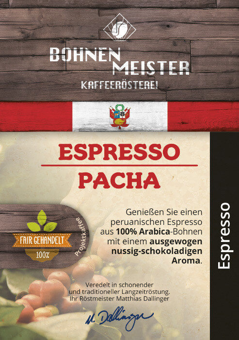 Espresso Pacha- Goldmedailie 2018- Projektkaffee fair-direkt-nachhaltig- Espresso