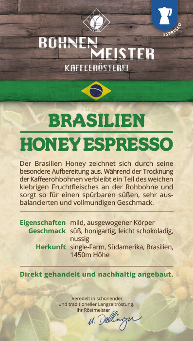 Espresso Honey Yellow Bourbon