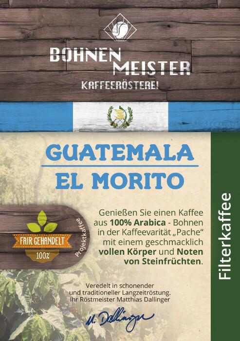 "Guatemala El Morito Pache Natural Projektkaffee- ""fair-direkt-nachhaltig""- Röstkaffee"