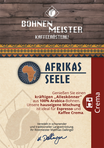 Afrikas Seele- Kaffee Crema