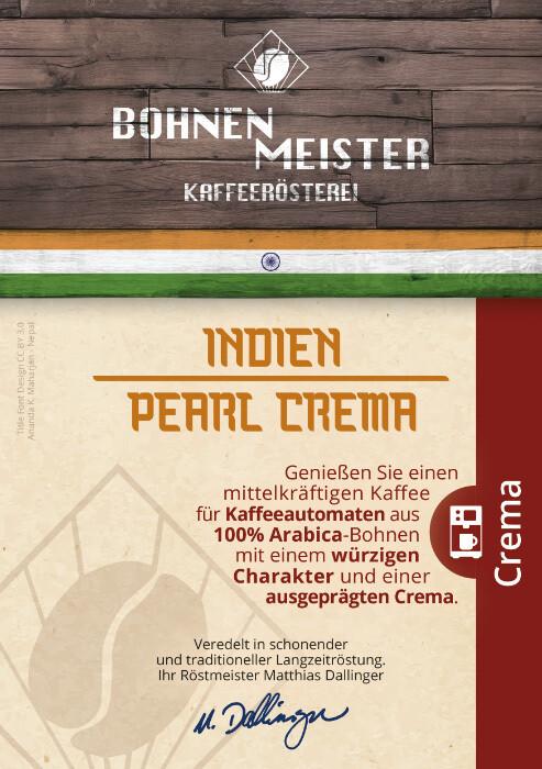 Indien Pearl Crema- Kaffee Crema- Perlbohne