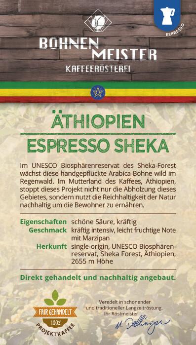 Espresso Sheka - Goldmedailie 2019 - Projektkaffee fair-direkt-nachhaltig-Äthiopien