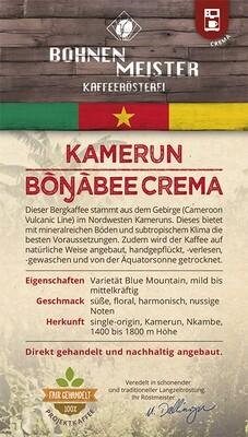 Kamerun Bongabee Crema- Kaffee Crema- Projektkaffee