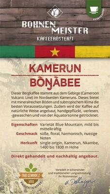 "Kamerun Bongabee Projektkaffee- ""fair-direkt-nachhaltig""- Röstkaffee-"