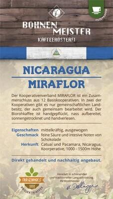 "Espresso Nicaragua Miraflora Frauenprojekt- ""fair-direkt-nachhaltig""- Röstkaffee"