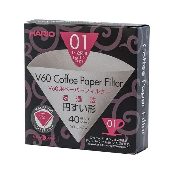 Hario-Papierfilter für V60-01-Handfilter Pour Over weiß Japan