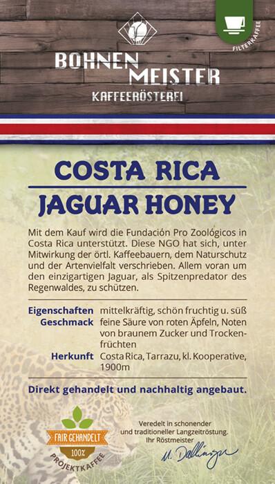 Costa Rica Jaguar Honey- Projektkaffee fair-direkt-nachhaltig-