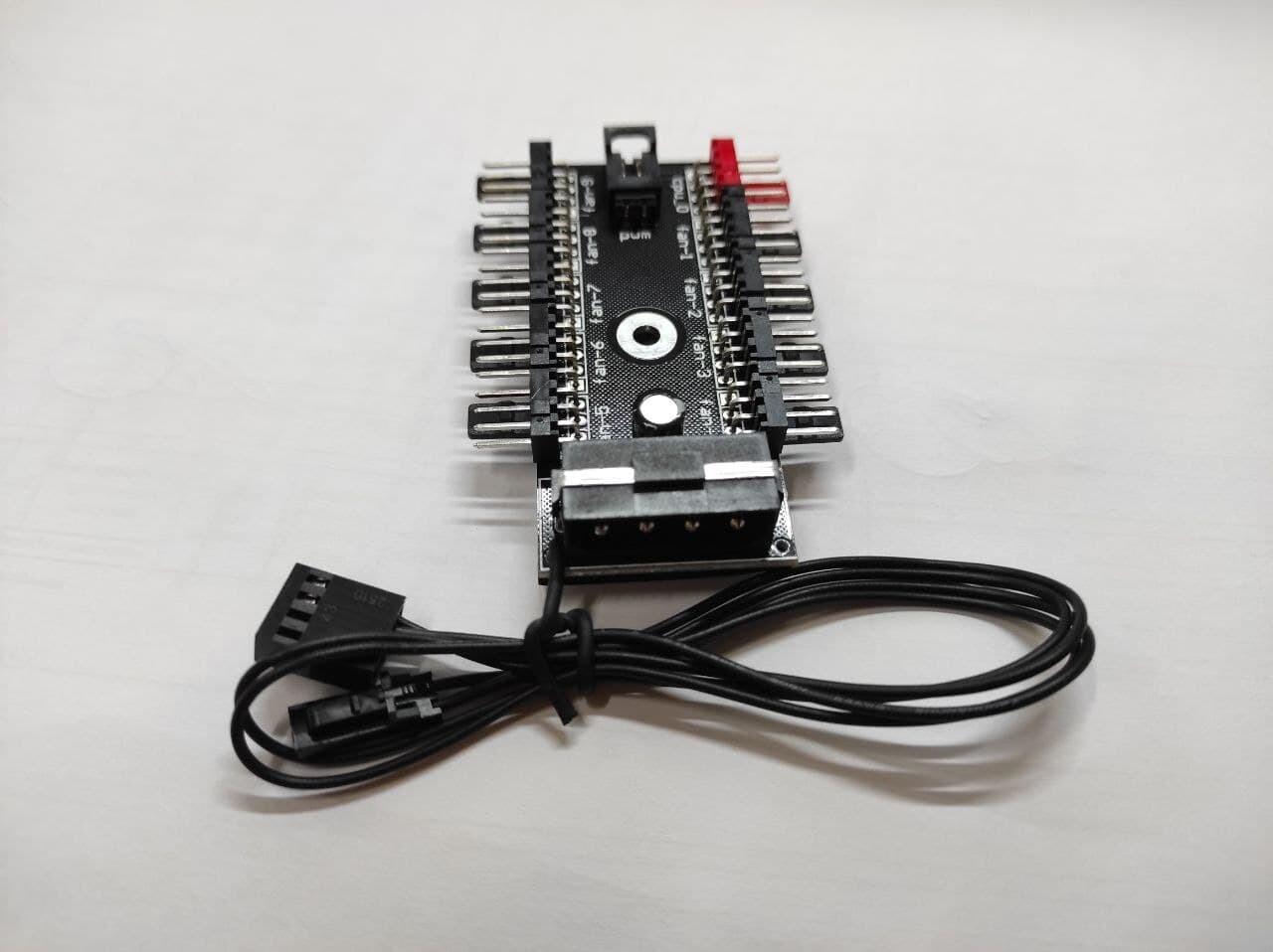 Хаб, реобас, регулятор для вентиляторов 10-ти канальный