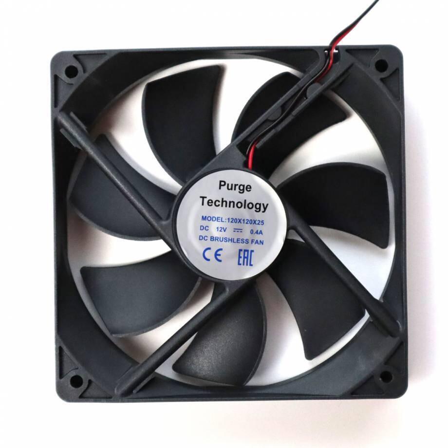 Вентилятор Purge 120x120х25мм 0,4А, 86.64 CFM (2.45 м3/мин), 2500 об/мин, 39 дБ 2pin
