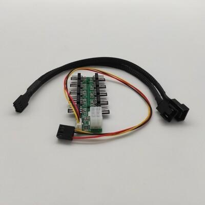 Хаб,регулятор для вентиляторов 10-ти канальный 18А, 4pin (автофан)