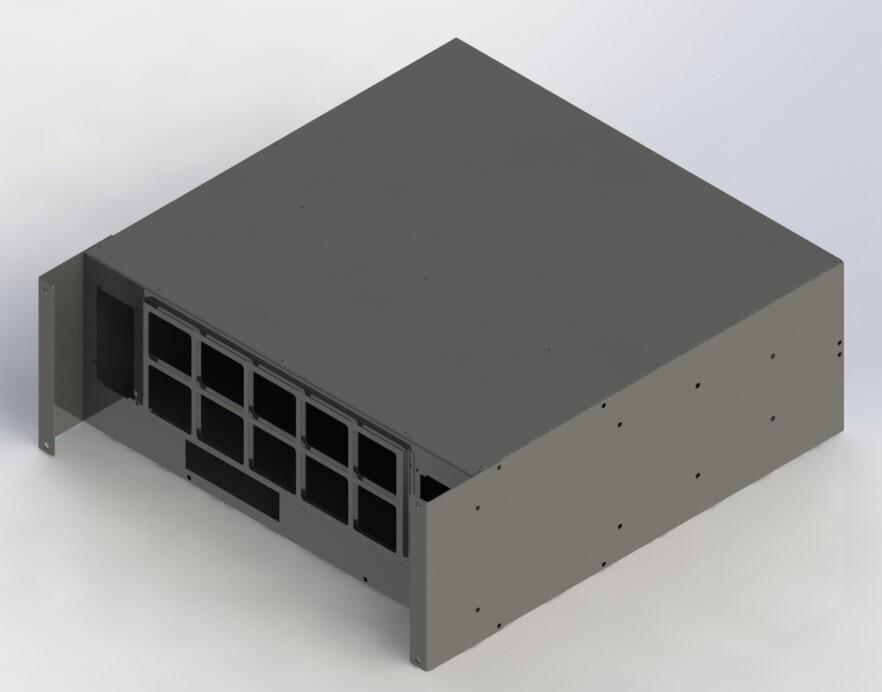 Cryptone-8R - Раздельные потоки, 8GPU 670х710х250мм, 2 блока АТХ, 3 fan 120/140/150mm w/o