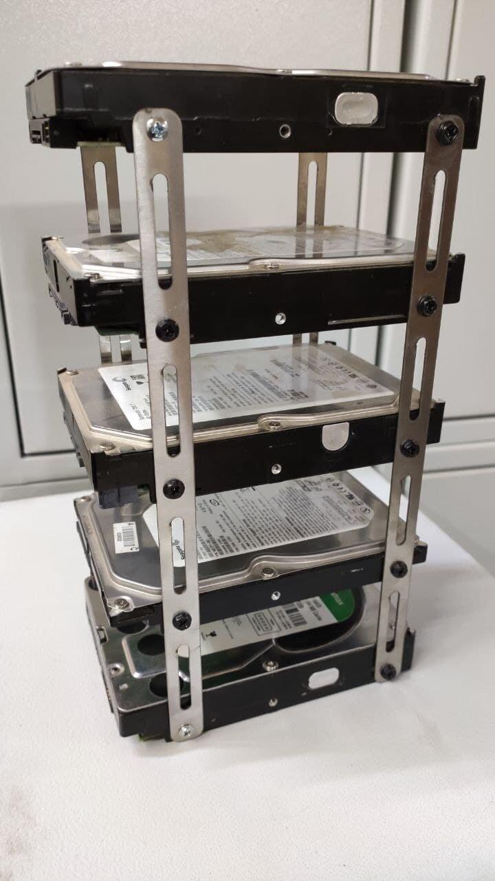 Органайзер для 5 HDD/SSD для CHIA coin