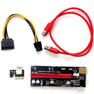 USB райзер 009s универсальный (черный)