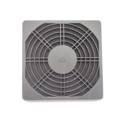 Решетка для вентилятора 120х120мм, с фильтром, пластик
