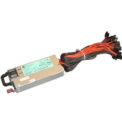 Блок питания серверный HP 1200W + PicoPSU (Тихий)