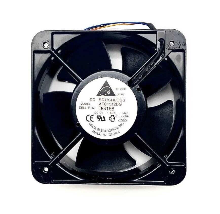 Вентилятор DELTA AFC1512DG 1,80A 150х150х50мм pwm 4pin, 3500 об., 258.8 CFM, 56.5 дБ (Поступление 10.09.2021)