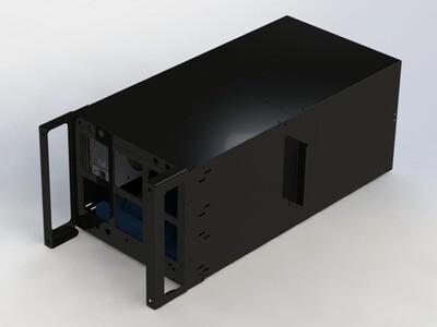 BigCryptone-4R - Раздельные потоки, 4GPU (ALL) 360х820х300мм, 1 блок АТХ, 2 fan 120/140/150m