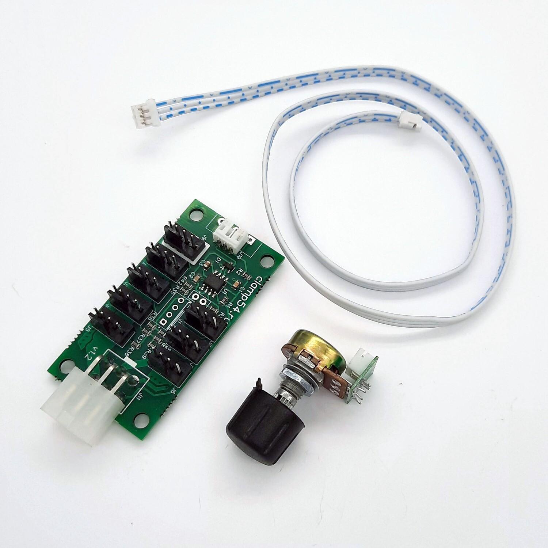 Регулятор ШИМ контроллер для вентиляторов, хаб (PWM) 4pin