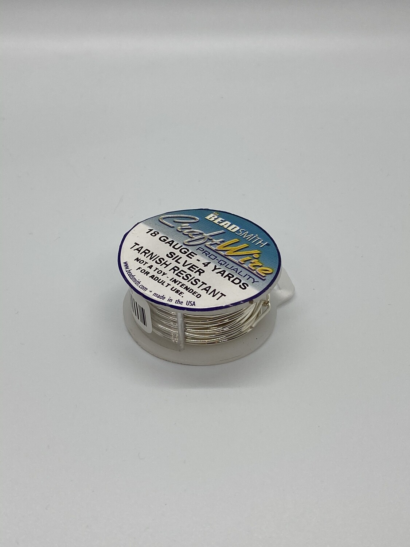 9433 18 Gauge Silver Wire.
