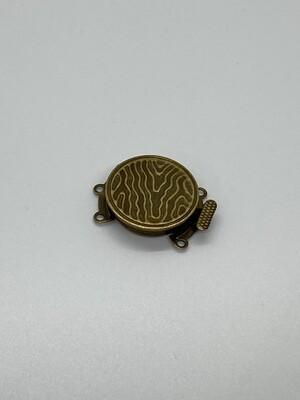 2538 3 Strand Brass Clasp