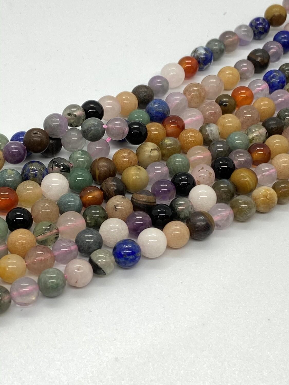 9060 Mixed Gemstones 6mm