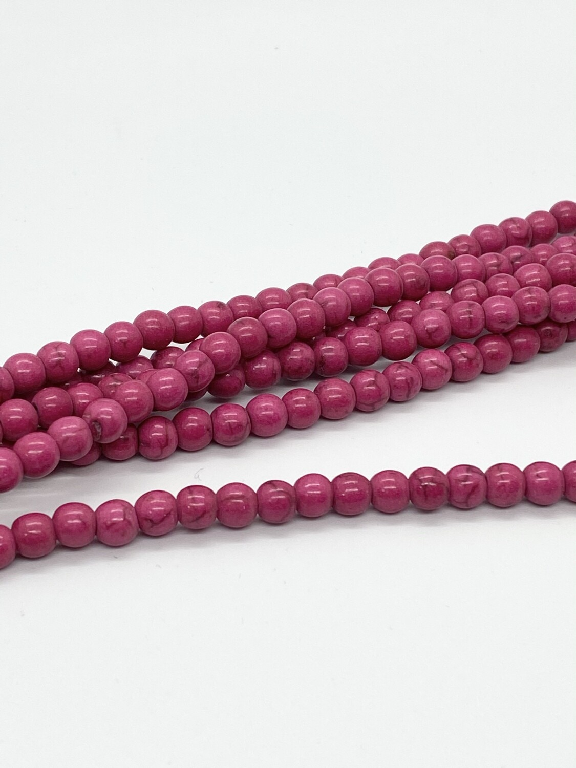 5023 Magnesite 6mm Round Dyed