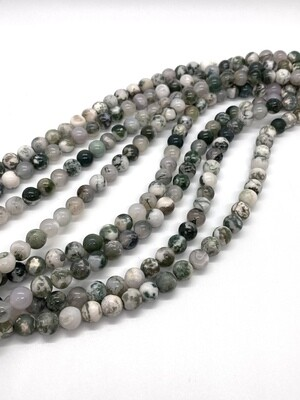 9048 Moss Agate 8mm Round