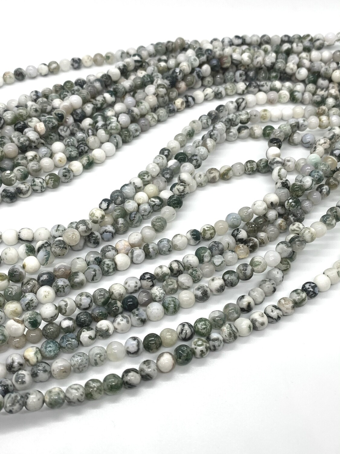 2064 Moss Agate Round 6mm