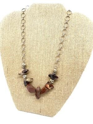 7183 Geo Jasper Chain Necklace