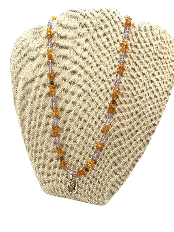 9665 February Birthstone Necklace