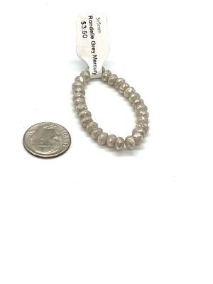 9526 Rondelle Grey Mercury