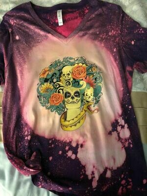 Sugar Skull Bleached Out Tee