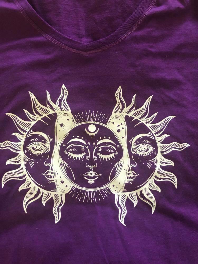 Moon Shirt Purple XL