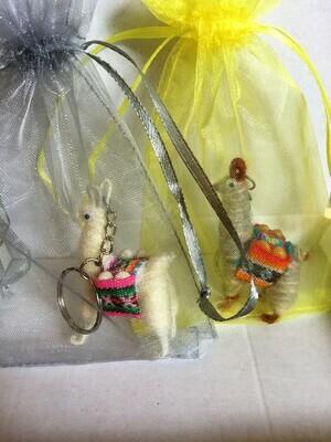 Genuine Peruvian Llama Key-Rings