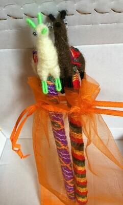 Genuine Peruvian Llama Topped Pens