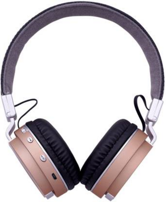 Geeko iPerfect Bluetooth Wireless On Ear Stereo Headphones - Gold