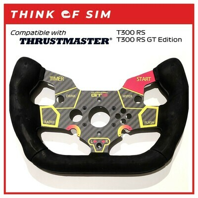 GT3 F1 Wheel Add-On Mod for Thrustmaster T300 RS T300 RS GT (HRC)