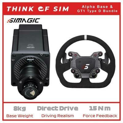 Simagic Alpha Flagship Direct Drive Base for Sim Racing+GT1 Wheel Type D