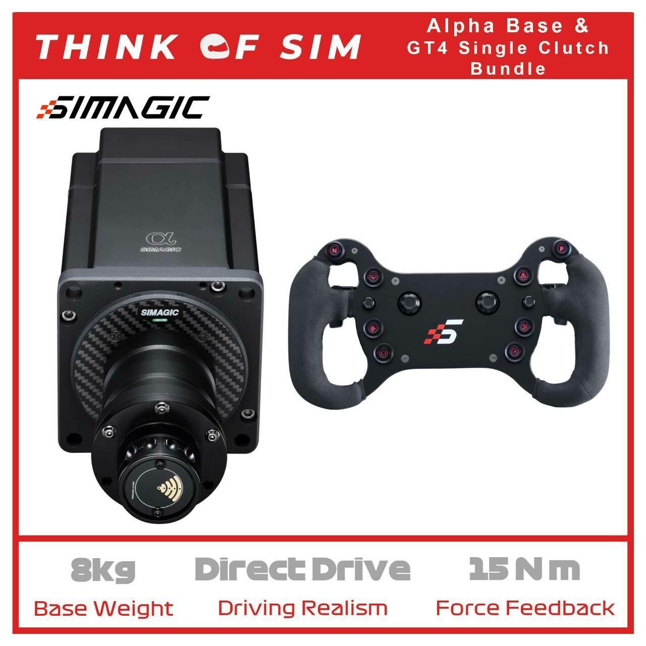 Simagic Alpha Flagship Direct Drive Base for Sim Racing+GT4 Single Clutch