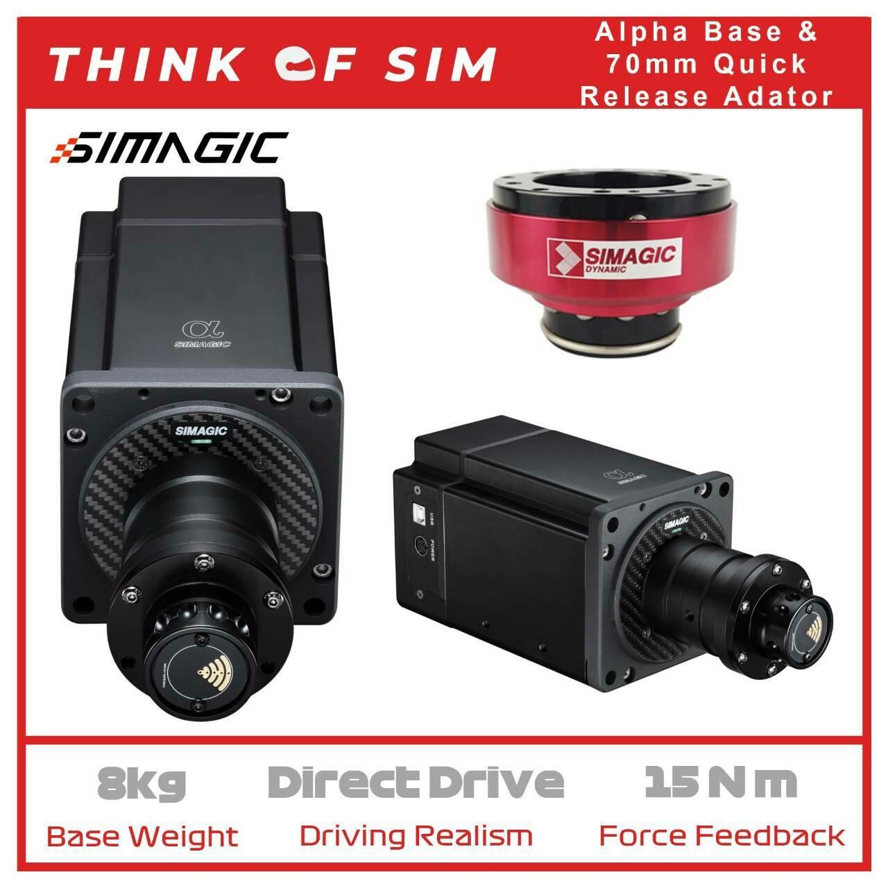 Simagic Alpha Flagship Direct Drive Base for Sim Racing