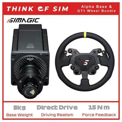 Simagic Alpha Flagship Direct Drive Base for Sim Racing+GT1 Wheel